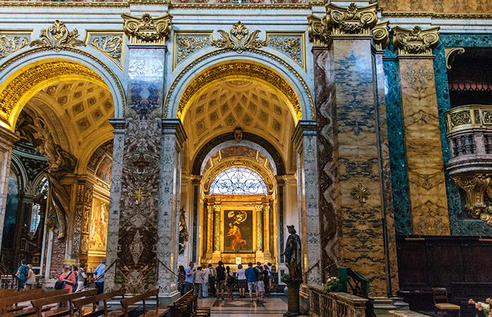 2---San-Luigi-dei-Francesi-5-bedste-kirker-i-Rom