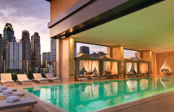 Oriental Residence Bangkok er på listen over luksushoteller i Thailand