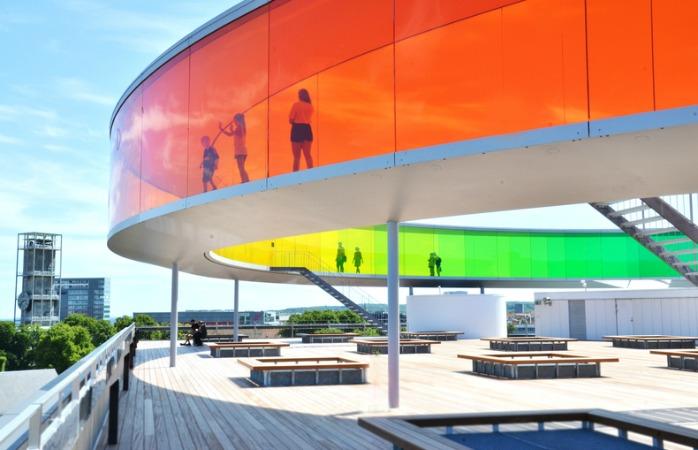 Regnbue-panoramaen på ARos