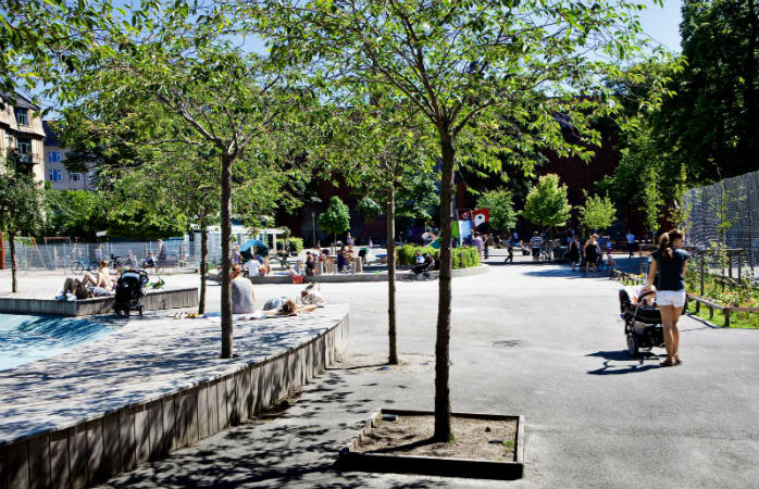 Skydebaneparken på Vesterbro