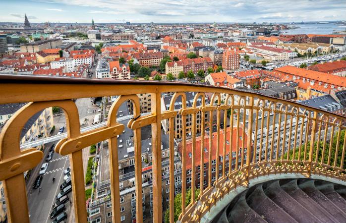 Udsigten fra Vor Frelsers Kirke i København