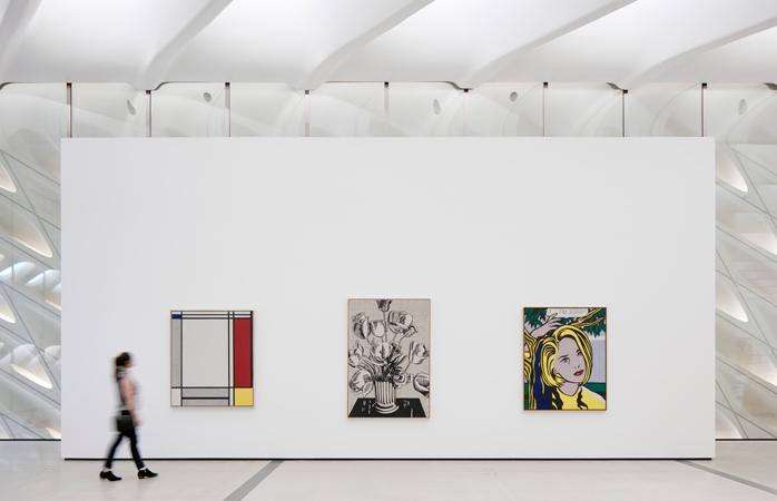Værker af Roy Lichtenstein på The Broads gallerier på tredje sal