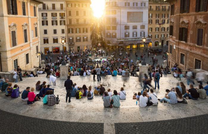 Den spanske trappe - Seværdigheder i Rom
