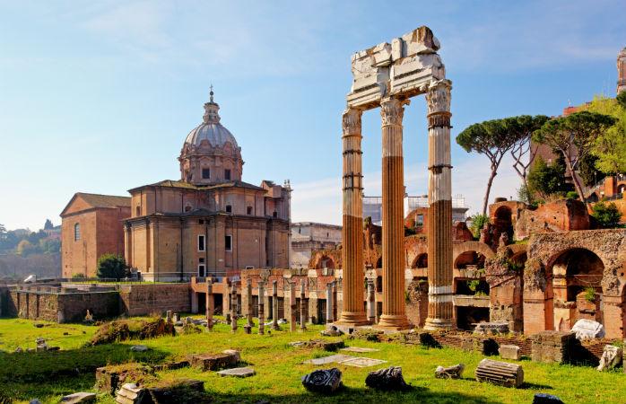 Forum Romanum - Seværdigheder i Rom