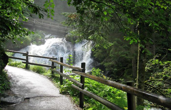 Triberg vandfald i Tyskland