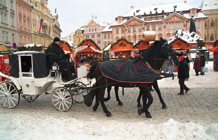 Prags mest ikoniske julemarked i den gamle bydel
