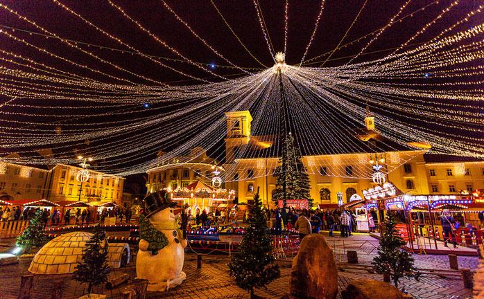 Ren julemagi i rumænske Sibiu