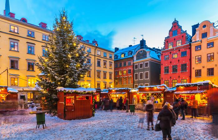 Julemarked i Stockholms gamle bydel