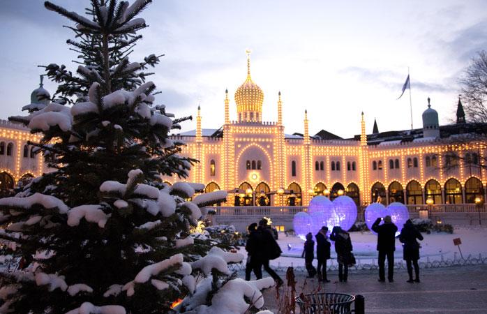 Tivoli huser et af Københavns hyggeligste julemarkeder
