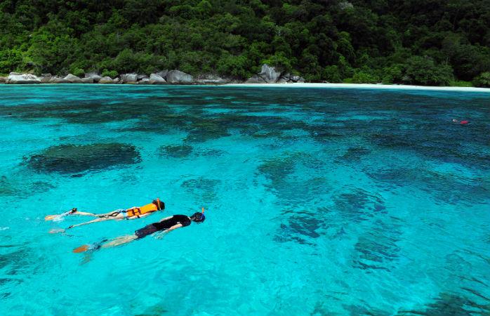 Similan-øerne i Thailand