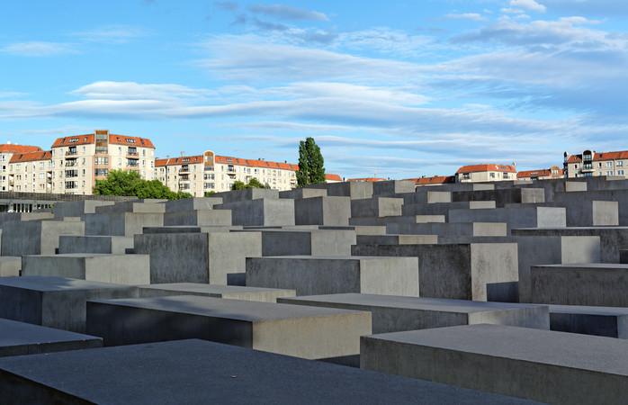 Monumentet för de judiska Holocaust offer i Berlin