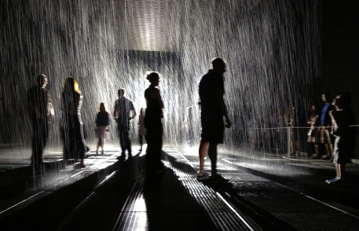 Rain Room på Museum of Modern Art i New York