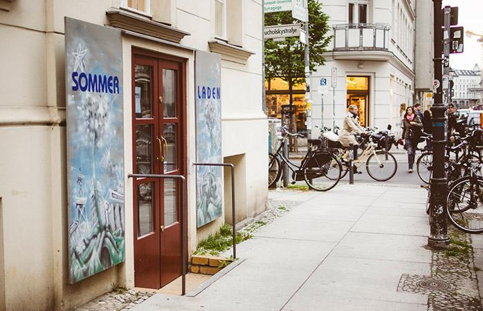 Indgangen til Sommerladen, et must-see sted for shopping i Berlin.