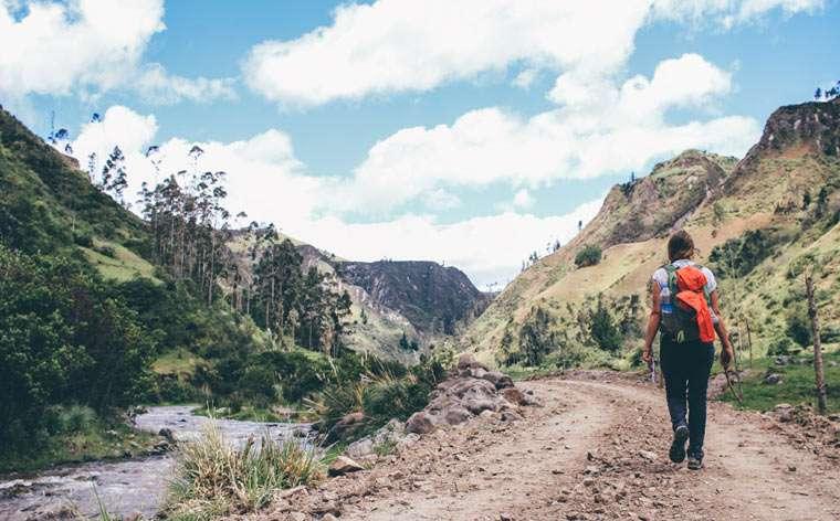 Vandretur i Quilotoa Loop, Ecuador