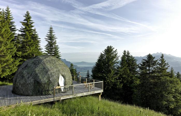 Whitepod, miljøvenligt hotel i Schweiz