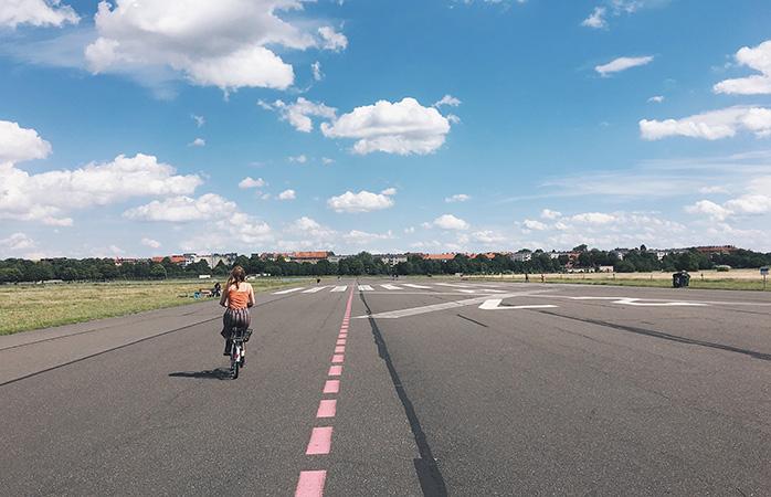 Tempelhofer Feld, en helt enestående park