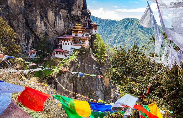 Det buddhistiske tempel Paro Taktsang i Himalaya